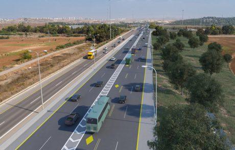 החלה סלילת נתיב תחבורה ציבורית חדש על כביש 471