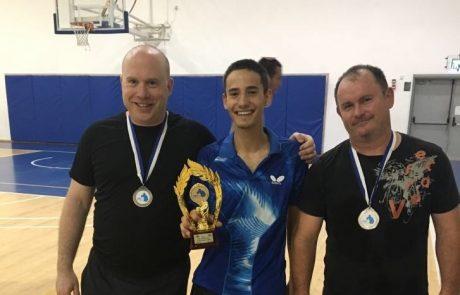 נועם גרוס הוא המנצח הגדול בגמר השלישי של אליפות טניס שלחן בגבעת שמואל