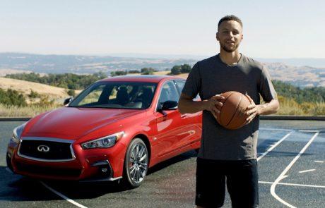 שחקן  הכדורסל סטפאן קארי יככב בקמפיין של מותג רכב היוקרה אינפיניטי