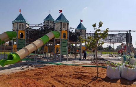הולכות ונשלמות עבודות הקמת פארק המשחקים החדש בדרום העיר
