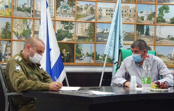 """מפקד פיקוד העורף במחוז דן: """"גבעת שמואל הינה מודל להתמודדות עם הקורונה"""""""