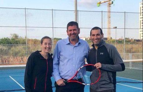 בהשתתפות שחר פאר ואנדי רם: נפתח מרכז הטניס והספורט בגבעת שמואל