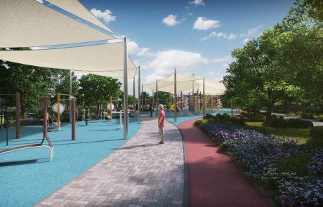"""לקראת סיום: תמונות חדשות מהפארק החדש ע""""י כביש מכבית"""