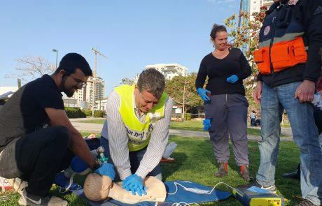 """בשגרה ובחירום: מתנדבי מד""""א בגבעת שמואל והסביבה שומרים על כוננות"""
