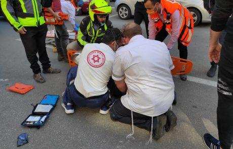 הולך רגל נפצע מאופנוע בכניסה לגבעת שמואל