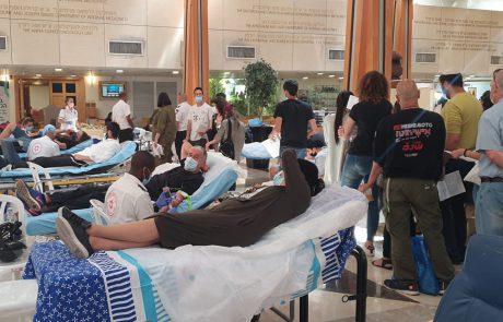 מאות מנות דם נתרמו למען איציק סעידיאן