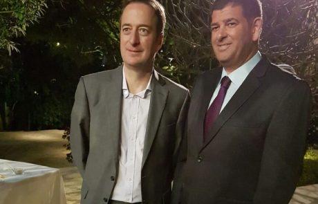 """ברודני חגג את ט""""ו בשבט עם שגריר בריטניה בישראל"""