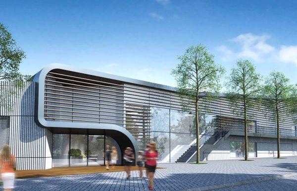 """3500 מ""""ר ומאות מקומות ישיבה: החלה בניית אולם ספורט משולב ברח' מנחם בגין"""